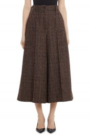 Dolce amp Gabbana Check Wool Blend Wide Leg Crop Pants   Nordstrom at Nordstrom