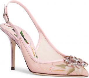 Dolce amp Gabbana Floral Crystal Slingback Pump  Women    Nordstrom at Nordstrom