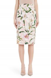 Dolce amp Gabbana Lily Print Pencil Skirt   Nordstrom at Nordstrom
