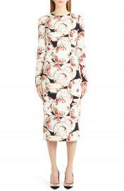 Dolce amp Gabbana Plate Print Sheath Dress at Nordstrom
