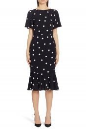 Dolce amp Gabbana Polka Dot Stretch Silk Charmeuse Dress   Nordstrom at Nordstrom