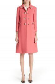 Dolce amp Gabbana Rose Button Wool Coat   Nordstrom at Nordstrom