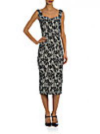 Dolce and Gabbana - Floral Sweetheart Sheath Dress at Saks Off 5th