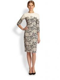 Dolce and Gabbana - Lace-Printed Cady Dress at Saks Fifth Avenue