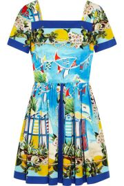 Dolce and Gabbana  Portofino printed cotton-poplin mini dress at Net A Porter