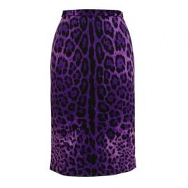Dolce and Gabbana Leopard Print Pencil Skirt at Farfetch