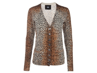 Dolce and Gabbana Leopard Spot Cardigan at Bernard Boutique