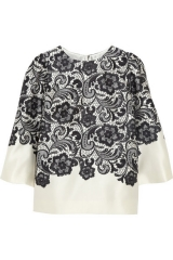 Dolce and Gabbana lace top at Net A Porter