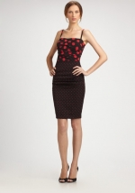 Dolce and Gabbana polka dot ruched dress at Saks at Saks Fifth Avenue