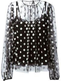 Dolce andamp Gabbana Polka Dot Blouse - at Farfetch