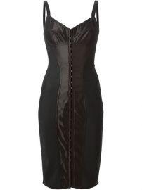 Dolce andamp Gabbana Strappy Corset Dress - Profile at Farfetch