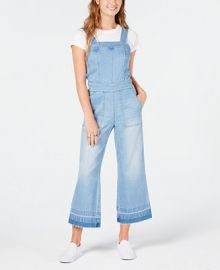 Dollhouse Juniors  Cropped Wide-Leg Denim Overalls   Reviews - Jeans - Juniors - Macy s at Macys