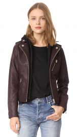 Doma Hooded Leather Jacket at Shopbop