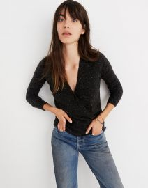 Donegal Wrap-Front Pullover Sweater in Coziest Yarn at Madewell