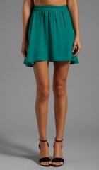 Donna Mizani Circlet Skirt in Jade at Revolve