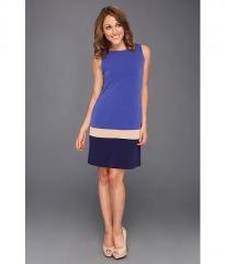 Donna Morgan Color-Block Shift Dress CobaltNavy at 6pm