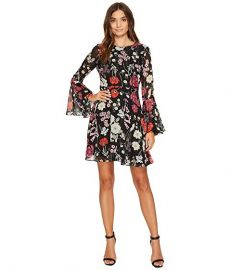 Donna Morgan Gwendoline Fit and Flare Bell Sleeve Dress at Zappos