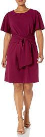Donna Morgan Women s Plus Size Tie Front Crepe Dress at Amazon