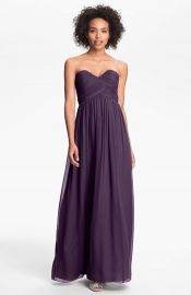 Donna Morgan and39Lauraand39 Ruched Sweetheart Silk Chiffon Gown in Amethyst at Nordstrom