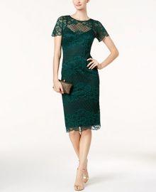 Donna Ricco Lace Dress Women -  Dresses - Macy s at Macys