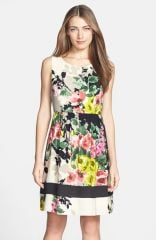 Donna Ricco Print Crepe de Chine Dress at Nordstrom