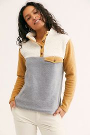 Donni Tri Fleece Pullover at Free People