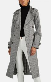 Dorian Plaid Cotton Trench Coat by NSF at Barneys Warehouse