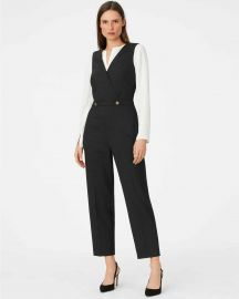 Dorotheah Pin-Dot Jumpsuit at Club Monaco