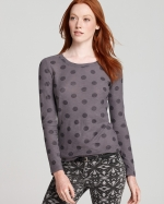 Dorrit's polka dot sweater at Bloomingdales