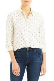 Dot Triangle Silk Shirt by Theory at Nordstrom Rack