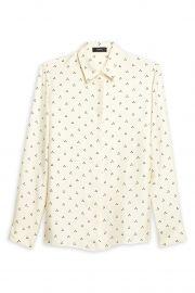 Dot Triangle Silk Shirt by Theory at Hautelook