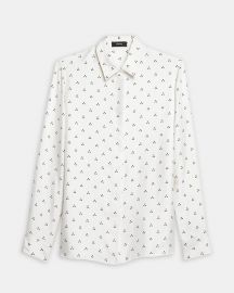 Dot Triangle Silk Shirt by Theory at Theory