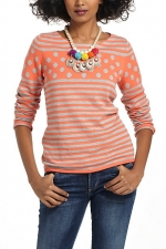 Dot and stripe sweater from Anthropologie at Anthropologie