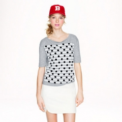 Dot over Stripes Tee at J. Crew