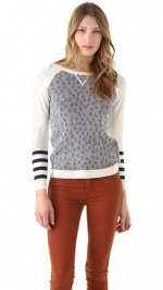 Dots and stripes crewneck top by Gryphon at Shopbop