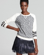 Dots crewneck with stripe sleeves by Gryphon at Bloomingdales