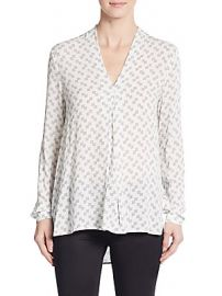 Dotted Check Top at Saks Off 5th