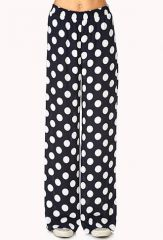 Dotted Wide Leg Trousers at Forever 21