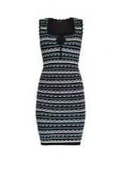 Dotted stripe bodycon dress at Bcbgmaxazria