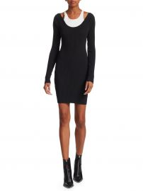 Double Layer Bodycon Dress at Saks Fifth Avenue
