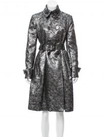 Double Breasted Brocade Coat by Burberry at The Real Real