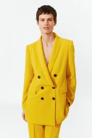 Double Breasted Buttoned Blazer at Zara