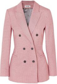 Double-Breasted Houndstooth Blazer by Cefinn at Net A Porter