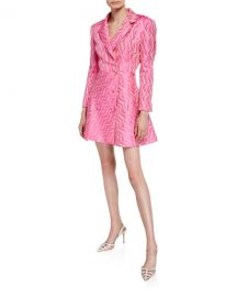 Double-Breasted Jacquard Blazer Dress by Rotate at Bergdorf Goodman
