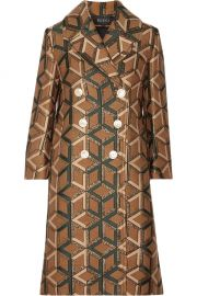 Double-Breasted Metallic Jacquard Coat by Gucci at Net A Porter