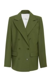 Double-Breasted Woven Blazer by Tibi at Moda Operandi