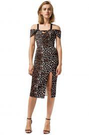 Double Crepe Leopard Minka Dress by Yeojin Bae at Yeojin Bae
