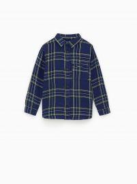 Double-Faced Plaid Shirt  at Zara
