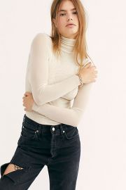 Double Layer Mesh Turtleneck at Free People