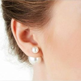Double Pearl Stud Earrings by Sonja at Sonja